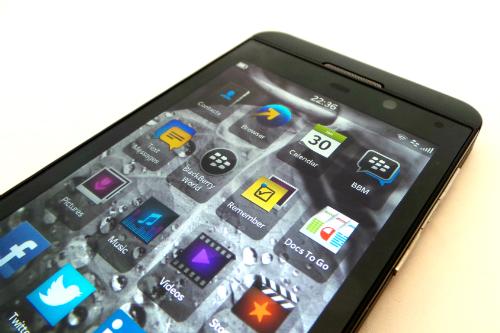 BB Z10 App Menu