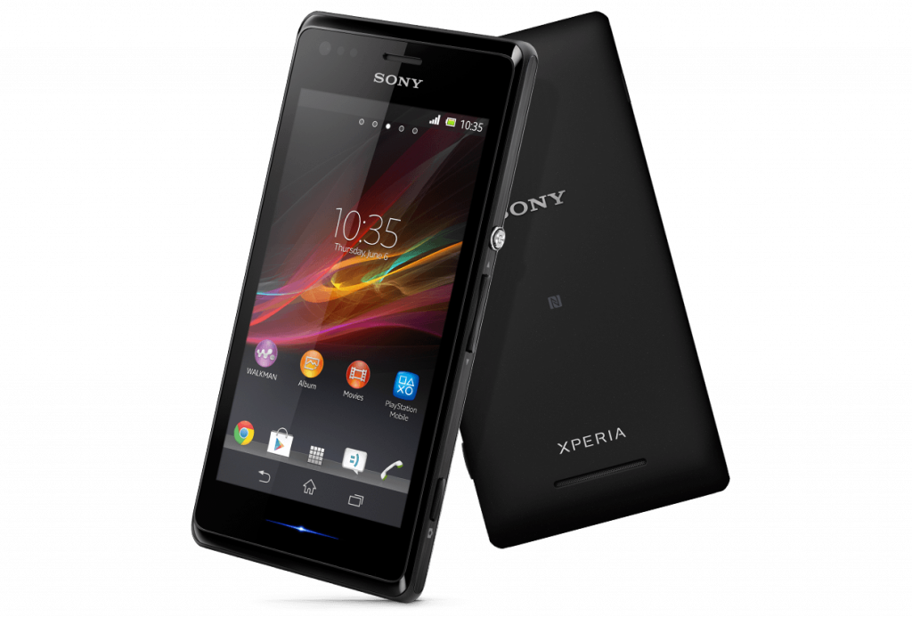 Sony Xperia M Dimension and Display