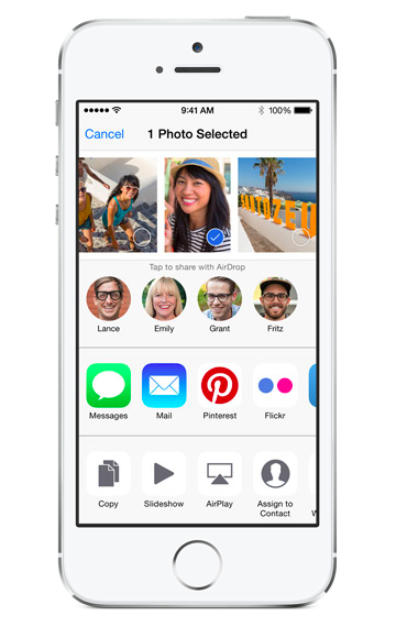 document sharing & app extension in iOS 8
