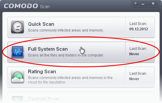 scan your pc for viruses