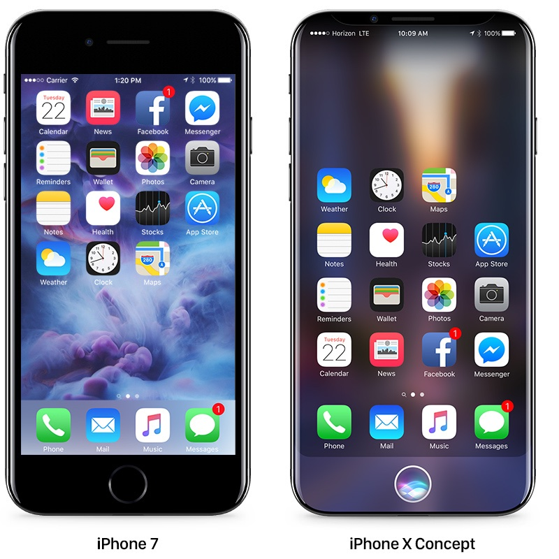 iphone 7 & iphone x concept