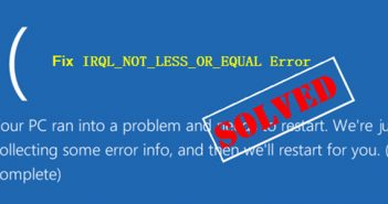 Fixing blue screen DRIVER_IRQL_NOT_LESS_OR_EQUAL error